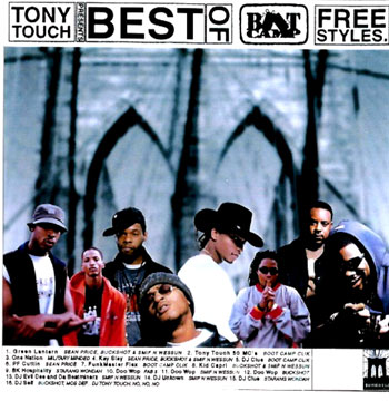 Tony Touch Presents The Best of Boot Camp Clik Freestyles (Album Cover)